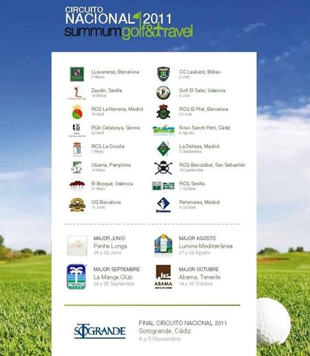 Se presenta el calendario de la segunda edición del Circuito SummumGolf