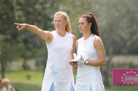 Maria Verchenova y Anastasia Kostina, buen juego y glamour asegurado en la European Nations Cup 2011
