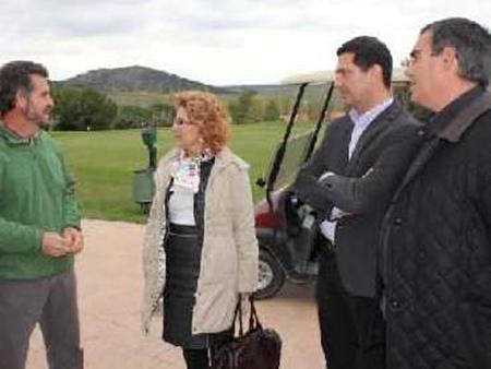 Carmen Heras, visita Norba Club de Golf