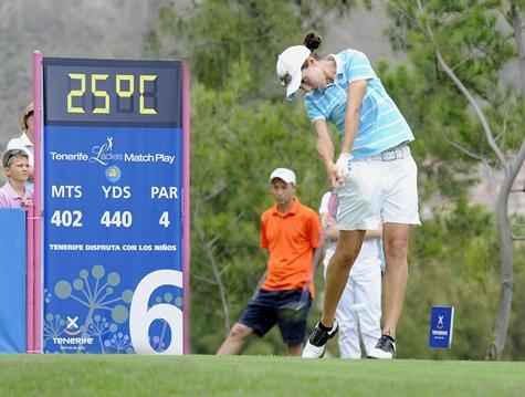 Carlota Ciganda, esperanza española en el Tenerife Ladies Match Play
