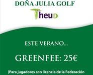 Doña Julia Golf oferta a los jugadores madrileños