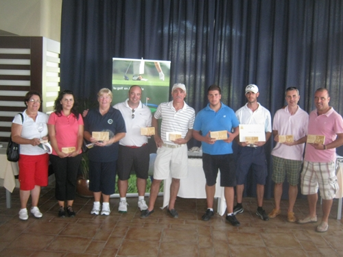 Ganadores de la 9ª  Prueba del VI Circuito 2×9 Costa del Sol