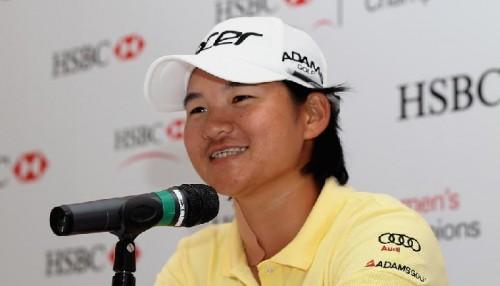 La taiwanesa Yani Tseng, en la rueda de prensa celebrada en el torneo de Singapur. Foto: HSBC Championship (web oficial)