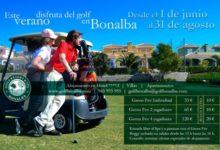 Bonalba Golf : Oferta de Verano desde el 1 de junio al 31 de agosto