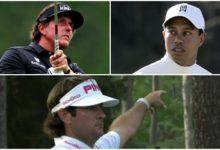 ¡Bombazo! Tiger, Phil y Bubba juntos en el US Open