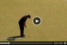 VÍDEO: Tiger, aclamado tras un gran 'putt' largo durante la 2ª ronda del US Open