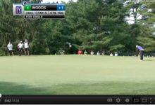 VÍDEO: Tiger embocó un 'putt' formidable para 'eagle' en la 2ª ronda del AT&T