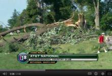 VÍDEO: Árboles caídos, mejores golpes y ausencia de público en el AT&T National (3ª ronda)