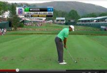 VÍDEO: Tiger falló el corte del Greenbrier. No ajustó distancias, como en este sand wedge