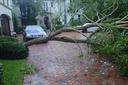 La vivienda de Dustin Johnson afectada por el huracán Isaac