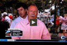 VÍDEO: Bubba Watson muestra su sentido del humor a espaldas de un reportero de TV