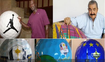 A la venta las 5 bolas gigantes de Jordan, Olazábal o Donald