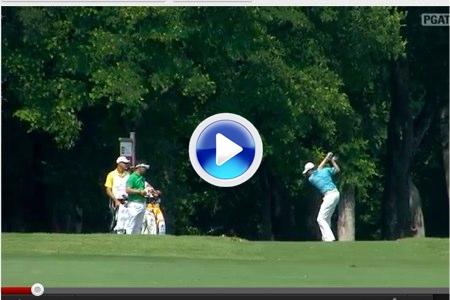 Pega el driver, lo rompe y alcanza ¡315 yardas! (VÍDEO)