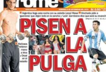 FÚTBOL: Messi recibido con gritos de 'Cristiano, Cristiano' en Perú (FOTO)