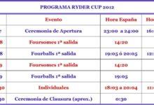 Siga la Ryder Cup: los horarios (Ver Programa)
