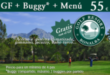 Oferta Bonalba Golf : Green Fee + Buggy + Menú= 55 €