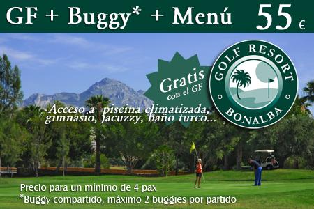 Oferta Bonalba Golf : Green Fee + Buggy + Menú= 55 €