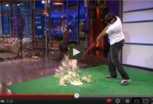 Bubba Watson 'revienta' una tarta con su 'Pink Driver' en el show de Jay Leno (VÍDEO)