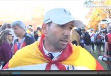 Sergio García explica en español sus sensaciones tras ganar en Medinah