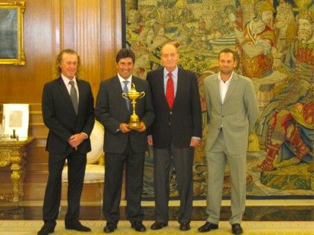 Audiencia del Rey a los campeones Ryder de España