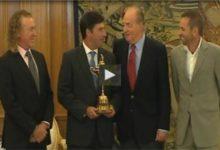 El Rey recibió a Olazábal, García y Jiménez (VÍDEO)