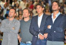 Sergio García, junto a Ferrero en su homenaje de despedida