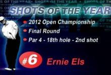 Ernie Els ganó el British con un 'putt' excepcional