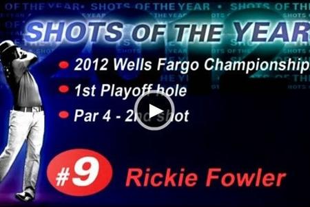 ¿Fue Rickie Fowler el autor del mejor golpe de 2012?