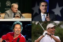 Mitt Romney recurrió a Jack Nicklaus y Barak Obama, al 'Boss'