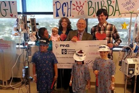 PING y Bubba Watson donaron 250.000 $ para los niños enfermos y un laboratorio pediátrico
