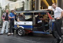 El taxi se llama 'tuk tuk' y Bubba Watson va dentro: unas risas en Tailandia