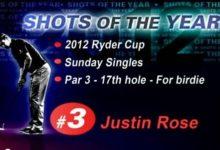 Justin Rose, en la lista por un 'putt' Ryder (VÍDEO)