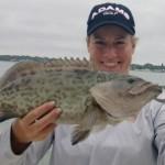 Brittany Lincicome en uno de sus hobbies favoritos, la pesca. @Brittany1golf