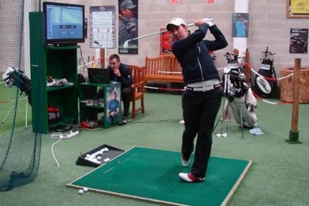 Carlota Ciganda en Golf Indoor Center Foto: Golf Indoor Center