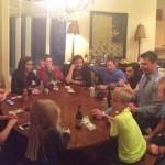 David Duval se reunió con su familia y disfrutaron con los juegos de mesa