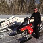 Davis Love III en una moto de nieve mientras el Circuito se encontraba en Hawai. @Love3d