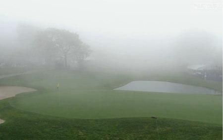 La niebla paralizó Torrey Pines
