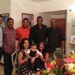 Jhonattan Vegas y su familia deseó un prospero año nuevo 'Gracias por el apoyo a todos. Se les quiere'