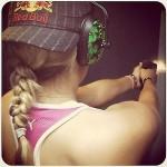 'Adoro ir a la galería de tiro', pregonó Lexi Thompson en sus redes sociales. @Lexi