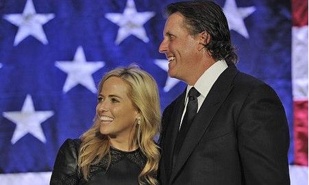 Phil Mickelson y su esposa Amy. Foto PGA Tour
