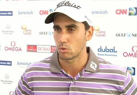 Rafa Cabrera-Bello realiza declaraciones tras ganar en 2012 en Dubai