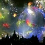 Sir Nick Faldo remitió esta imagen de fuegos artificales ¿de la TV?