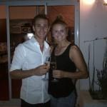Tano Goya y su pareja, la también profesional Carly Booth, felicitaron juntos