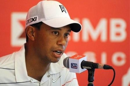 Tiger Woods, durante una conferencia de prensa