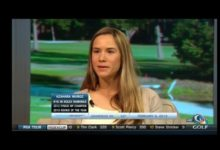 """Azahara Muñoz """"españoleó"""" en una entrevista en Golf Channel"""