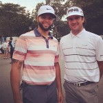 Bubba Watson con  Deron Williams, estrella de la NBA