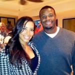 Cheyenne Woods con Ken Griffey Jr. ex-jugador de beisbol de las Grandes Ligas