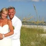 Darren Clarke el día de su boda con su segunda esposa
