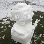 El European Tour mostraba este muñeco de nieve
