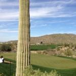 Vistas del espectacular hoyo 18 del Golf Club at Dove Mountain